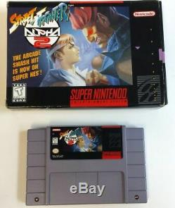 Street Fighter Alpha 2 Super Nintendo 1996 SNES Complete CIB Tested & Played