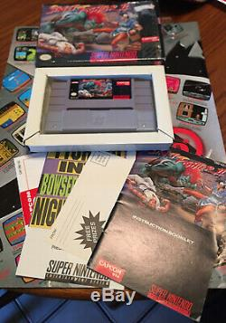 Street Fighter II SNES Super Nintendo Complete CIB, Tested And Working! Mint