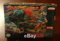 Street Fighter II Super NES Super Nintendo SNES New Factory Sealed Game Capcom 2
