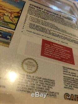 Street fighter 2 turbo Neuf Blister Rigide Super Nintendo Factory Sealed Snes