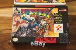Sunset Riders Super Nintendo SNES 1993 Konami CIB Complete Box Manual RARE