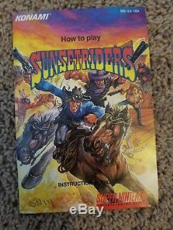 Sunset Riders Super Nintendo SNES CIB Complete in Box RARE