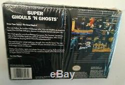Super Ghouls'n Ghosts Complete in box SNES Super Nintendo CIB partially sealed