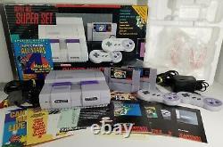 Super Mario All Stars Set Super Nintendo Snes Console System Complete CIB