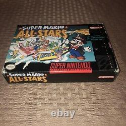 Super Mario All-Stars Super Nintendo SNES Game Box Manual Inserts CIB Complete