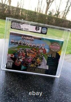 Super Mario Kart SNES / Sealed/ VGA 85 / graded/ NTSC / Rare / Super Nintendo/US