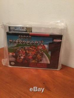 Super Mario Kart Snes Super Nintendo Rga Graded 80 Nm H-seam Sealed Brand New