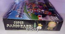 Super Mario Kart Super Nintendo Entertainment System SNES New And Sealed