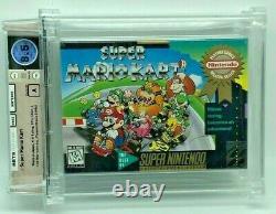 Super Mario Kart Super Nintendo New H-Seam SNES VGA Silver WATA Graded 8.5 A