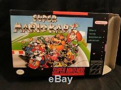Super Mario Kart (Super Nintendo SNES, 1992) Complete CIB Nice SHAPE! New BOX