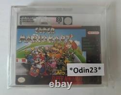 Super Mario Kart VGA 80 RARE SNES Super Nintendo Factory Sealed New First Print