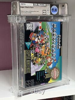 Super Mario Kart WATA 9.6 A++ Super Nintendo SNES Factory Sealed Player's Choice