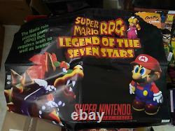 Super Mario RPG Legend of the Seven Stars PROMO BANNER Super Nintendo SNES RARE