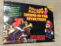 Super Mario RPG Legend of the Seven Stars RARE PROMO BANNER Super Nintendo SNES