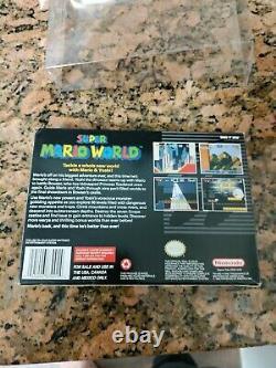 Super Mario World First Edition (Super Nintendo SNES) Complete CIB Authentic