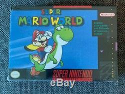 Super Mario World Nintendo Black Label SNES V-seam Brand New FACTORY SEALED