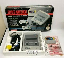 Super Mario World Original Super Nintendo SNES Boxed Console