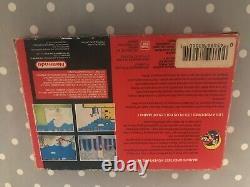 Super Mario World Rare Red Box Variant For SNES (Super Nintendo)