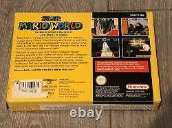 Super Mario World (SNES) PAL-Super Nintendo Complete Yellow UK Box -Tested