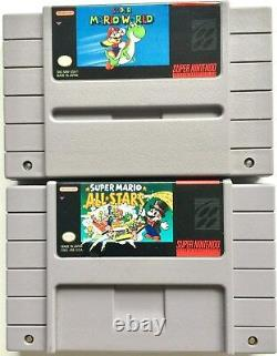 Super Mario World & Super Mario All-stars Two Snes Super Nintendo Video Games