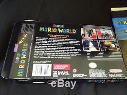 Super Mario World Super Nintendo SNES 1991 Complete CIB Manual, Dust, W Custom Box