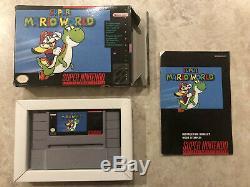 Super Mario World (Super Nintendo) SNES Complete in Box CIB Black Label