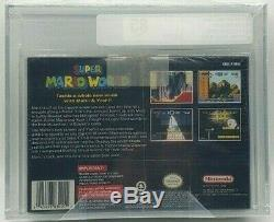 Super Mario World Super Nintendo SNES VGA Silver 85 H-seam New Factory Seal MINT