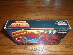Super Metroid COMPLETE CIB & Super Turrican IN BOX Super Nintendo SNES games