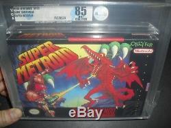 Super Metroid Complete VGA 85 Q Qualified for SNES Super Nintendo