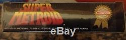 Super Metroid (Super Nintendo Entertainment System, 1994) FACTORY SEALED NIB