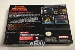 Super Metroid Super Nintendo SNES CIB 100% Complete