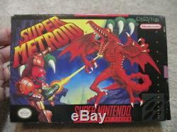 Super Metroid (Super Nintendo SNES) Complete CIB with Poster + Ad