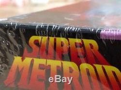 Super Metroid (Super Nintendo SNES) Factory Sealed 1ST PRINT RARE MINT