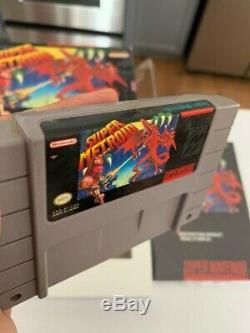 Super Metroid Super Nintendo SNES Game Box & Manual CIB Complete FREE SHIPPING