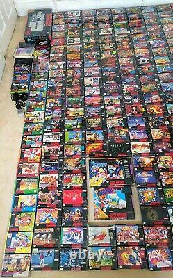 Super Nintendo 254 snes game collection + Console + Accessories