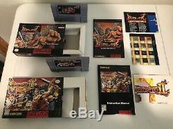 Super Nintendo 2 Game Lot CIB SNES Breath of Fire I & II