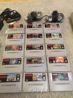Super Nintendo 2 Konsolen SNES Sammlung 15 Spiele Mario Kart Donkey Mega Man