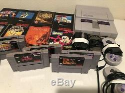 Super Nintendo 8 Game Lot withmanuals + SNES System