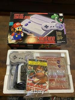 Super Nintendo CONTROL DECK SNS-101 SNES Pristine! Almost Mint With Box & Instruct