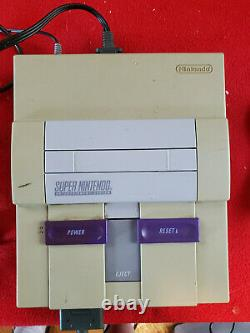 Super Nintendo CONTROL SET Console Rare Variant IN BOX SNES With Extra Controller