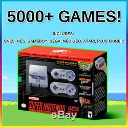 Super Nintendo Classic Edition SNES Mini Modded with 5000+ Games New Retro