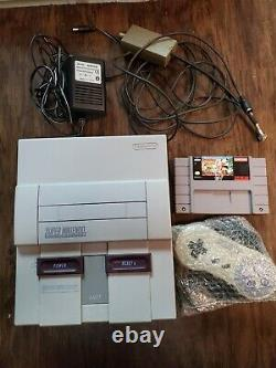 Super Nintendo Console SNES 1 Game Goof Troop Controller Tested READ