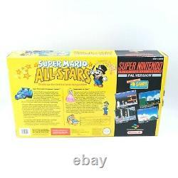 Super Nintendo Console SNES Boxed PAL Mario All Stars Ed. Very Good Condition