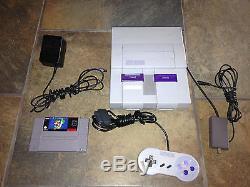 Super Nintendo Console Snes Game System Original Mario World Hook Ups Nes Hq