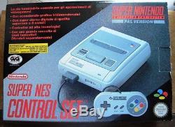 Super Nintendo Console Snes Gig Italia Nuovo Completo Pal