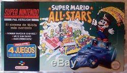 Super Nintendo Edición Super Mario All Stars SNES Versión Española Completa
