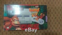 Super Nintendo Entertainment System Console Donkey Kong Country Bundle (SNES)