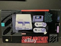Super Nintendo Entertainment System Gray Console Boxed Super Mario World Bundle