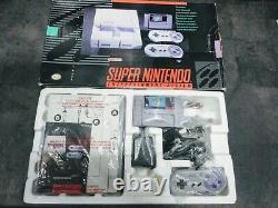 Super Nintendo Entertainment System Gray Home Console SNES CIB Complete in Box