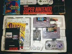 Super Nintendo Entertainment System Mario All Stars Set CIB Complete in Box